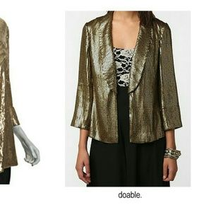 NEW W/O TAGS Sparkle and fade gold sequin jacket